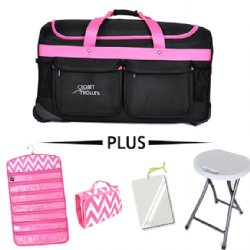 46f288a187 Garment Bags for Dance Costumes by Closet Trolley! Closet Trolley Bundle -  PINK Bag w  PINK Accessories