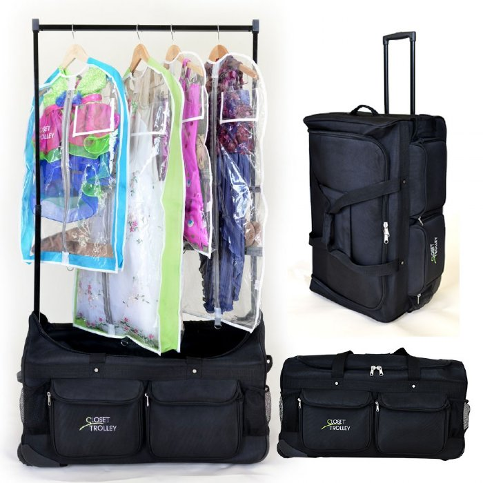 Dance Bag With Garment Rack Best The Closet Trolley Rolling Duffel Bag Dance Bag With Clothes Rack