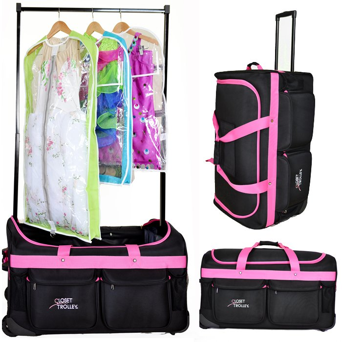 Rolling Suitcase With Garment Rack   Arm Designs